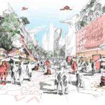 Der Handel im Wandel als große Chance: für eine Stadt als interaktive Erlebniswelt. Illustration: caspar.