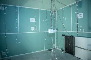 Testraum mit Radiator zur Raum-Kühlung