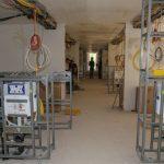 Vorinstallierte Sanitärwände für Hotel Südstern in München. Bild: Geberit
