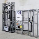 Installationssystem mit Planungssicherheit durch Vorfertigung: Statt Einzelteilen erhält der Auftraggeber komplette, auf die Einbringgrößen abgestimmte Einheiten, Geberit Brandschutz