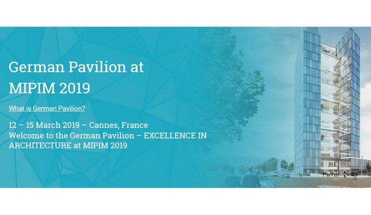 Vom 12. bis 15. März 2019 präsentieren 31 deutsche Architekturbüros ihre Leistungen auf der Weltleitmesse der Immobilienwirtschaft MIPIM in Cannes.