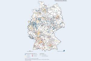 Eine neue Studie zur Bevölkerungsentwicklung in 624 deutschen Mittelstädten zeigt, dass die Einwohnerzahl dort zwischen 2011 und 2017 meist zugenommen hat.