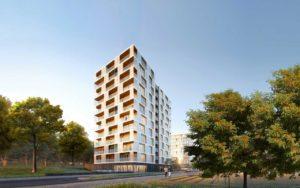 nachhaltiges Holzhochhaus, prämiert beim Nachhaltigkeitspreis Design