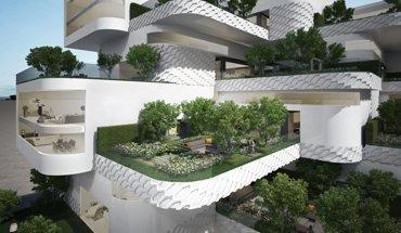 Vertikaler Garten: Der Eco-City-Garten, zu sehen auf der Chelsea Flower Show 2018, soll zur Verringerung der Luftverschmutzung in den Städten beitragen. Bild: LG