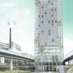 Das achtzig Meter hohe Haus klärt die städtebauliche Situation. Foto: Hawa Student Award
