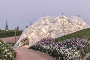 Faserpavillon auf der BUGA Heilbronn von Jan Knippers