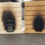 Holz-Fassadenelement nach Beflammung