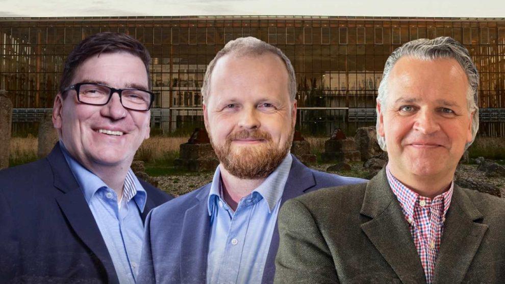 Eberhard Stegner (Graphisoft Deutschland), Markus Gallenberger (Frilo) und Alexander Neuss (Sema) im Holzbau-Interview