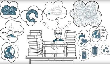 Der Erklärfilm zeigt anschaulich, wie ökobilanzielle Daten aus den EPDs für die Gebäudezertifizierung genutzt werden. Bild: IBU