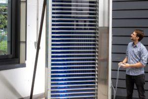 Solarthermische Jalousie für Solar-Fassaden