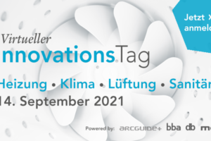 Keyvisual zum virtuellen Innovationstag Heizung | Klima | Lüftung | Sanitär