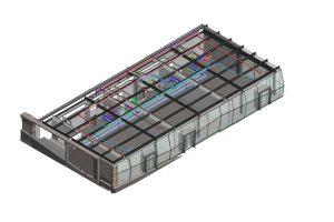 Die TePmA setzt schon seit 2015 auf die BIM-Planungsmethode – so auch beim Umbau des Döppersberg in Wuppertal: Im Bild ist ein 3D-Planungsmodell der Geschäftsbrücke bzw. des Pavillons zu sehen. Bild: Rehms Building Technology, Borken.