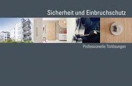 Cover einer Broschüre für professionelle Türlösungen