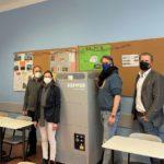 mobiler Luftreiniger in Klassenzimmer