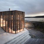 Künstlerhaus in Norwegen mit prägnanter Holzfassade aus Kebony-Holz. Architekten: Atelier Oslo.