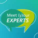 Key-Visual für digitale Veranstaltungsreihe »Meet (y)our experts« des Fraunhofer-Instituts für Bauphysik IBP