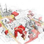 Der Handel im Wandel als große Chance: für eine Stadt als interaktive Erlebniswelt. Kölner Innenstadt. Illustration: caspar.