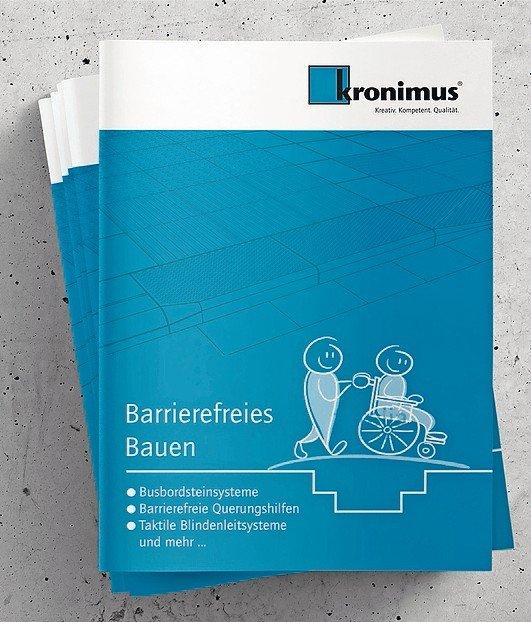 Pflaster und Platten aus Beton für Barrierefreies Bauen. Bild: kronimus