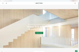 Webseite von Brettsperrholz-Spezialist Lignotrend. Bild: Lignotrend