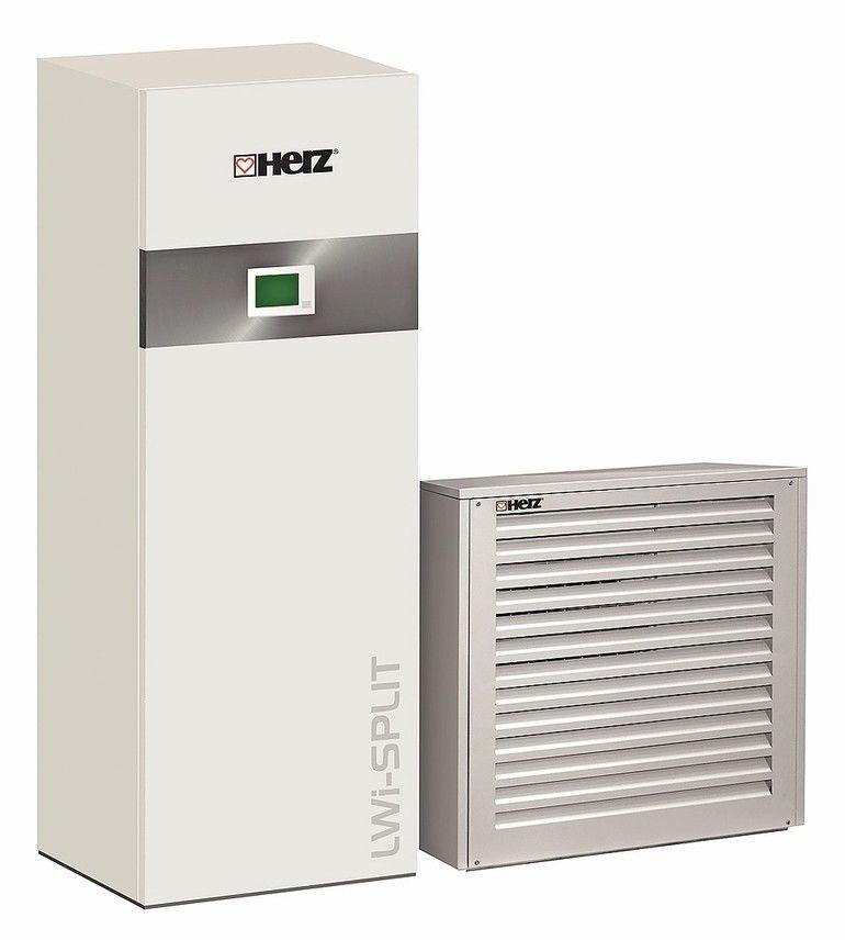 Luft Wasser Wärmepumpe für Heizen, Kühlen, Warmwasser . Bild: Herz