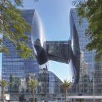 Opus by Omniyat-Gebäude in Dubai, spiegelnde Fassade