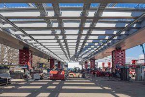 Brücken-Montage in Linz