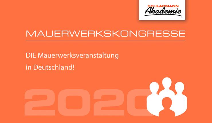Der Mauerwerkskongress 2020 findet am 23. Januar in Ulm und am 4. Februar in München statt. Bild: Schlagmann Poroton