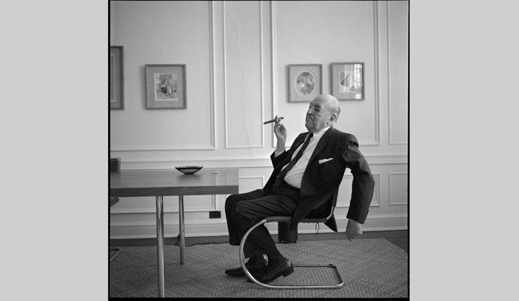 Portrait Mies van der Rohe im Freischwinger, Chicago 1964. Bild: Werner Blaser, © blaserarchitekten.