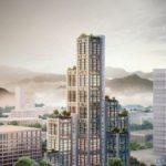 Entwurf eines Holz-Hybrid-Hochhauses