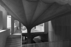 Architekturmodell zum Privathaus 75 von Omer Arbel, ausgestellt im Aedes Architekturforum