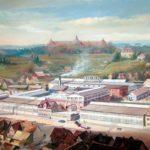Blick auf die Kaelble-Werke in Backnangaus der Vogelschau