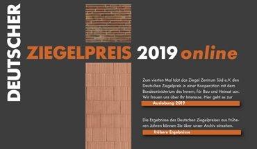 Das Ziegel Zentrum Süd e.V. hat in Kooperation mit dem Bundesministerium des Innern, für Bau und Heimat (BMI) bundesweit den Deutschen Ziegel-Preis 2019 ausgelobt.