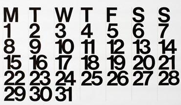 Designklassiker Stendig Calendar. Bild: PLY