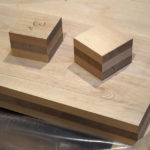 Brettsperrholz (BSP) aus modifiziertem Buchenholz