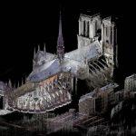 Punktwolke der Kathedrale Notre-Dame. Bild: Art Graphique & Patrimoine