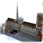 3D-Rekonstruktionsmodell, 2010–2014, Laurence Stefanon. Bild: Art Graphique & Patrimoine.