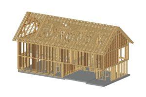 Im Forschungsprojekt BIMwood an der TU München wird derzeit erforscht, wie die BIM-Methode für den modernen Holzbau optimiert werden kann. Grafik: Prause Holzbauplanung