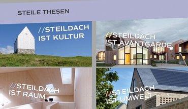 Die Initiative »Dachkult« möchte das Steildach in Deutschland wieder aufwerten. Dazu zeigt sie u.a. Beispiele innovativer zeitgenössischer geneigter Dächer. Bild: Dachkult