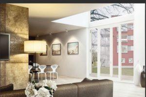 Fenstertür mit Parallelschiebeleicht-Beschlag