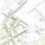 Lageplan zum Siegerentwurf zum IBA'27-Projekt Gelände Postareal in Böblingen