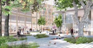 Visualisierung Siegerentwurf zum IBA'27-Projekt Gelände Postareal in Böblingen