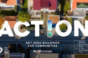 Pressebild zur World Green Building Week, Stadt von oben