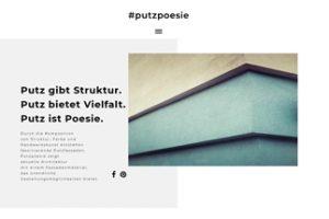 Seit November ist die Kampagne zum Putz unter putzpoesie.de online. Bild: #putzpoesie