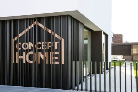 Das Concept Home präsentiert auch die neue Linarte-Fassade. Bild: Renson