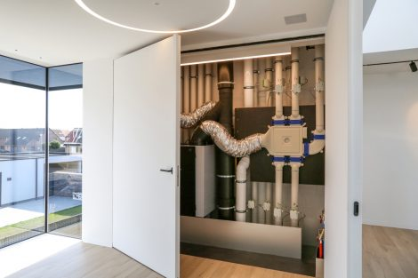 Das Lüftungssystem Endura Delta mit Wärmerückgewinnung von Luft zu Luft, ist eines der zurzeit getesteten Systeme. Bild: Renson