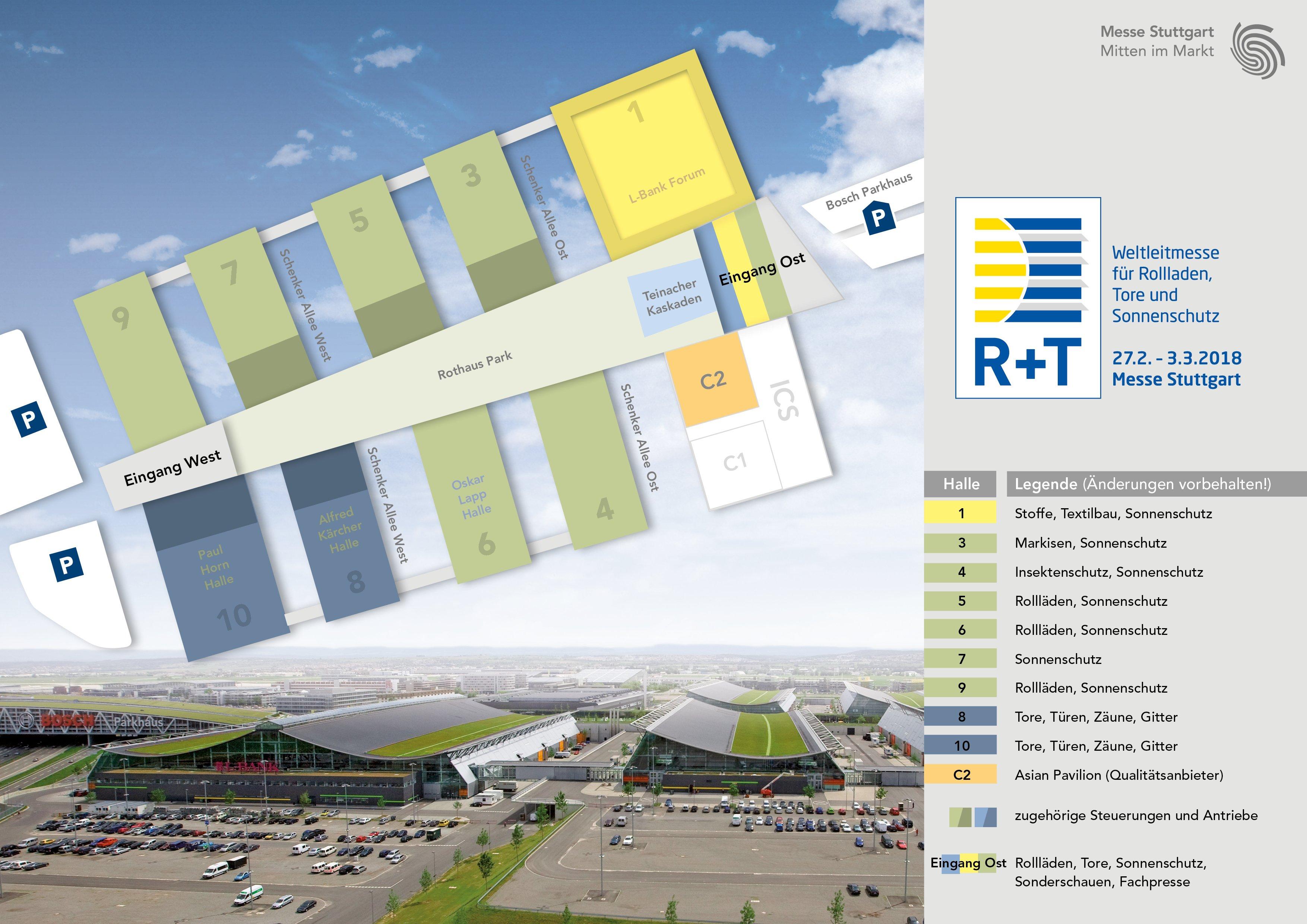 R+T 2018 - Weltleitmesse für Rollladen, Tore und Sonnenschutz