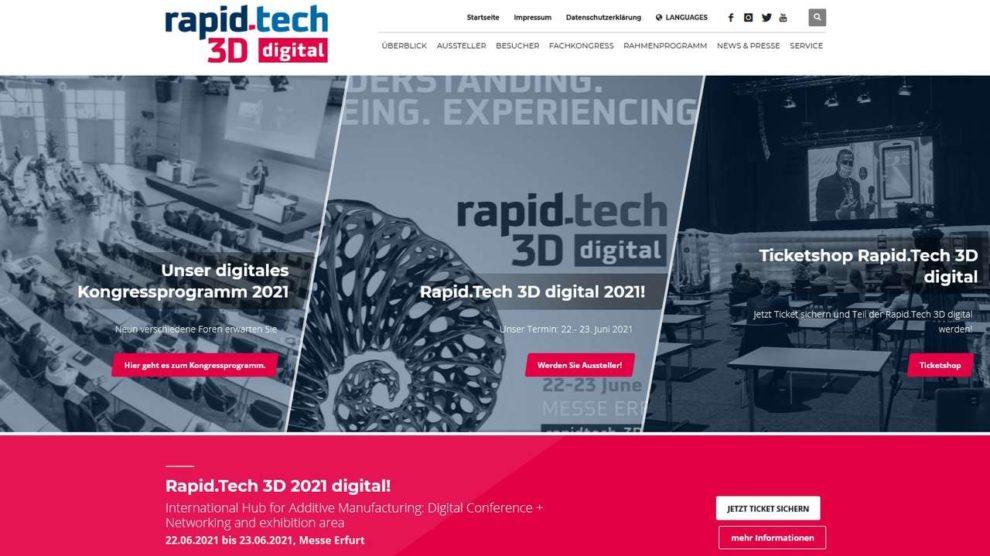 Screenshot Rapid.Tech 3D-Forum zum Thema additive Fertigung