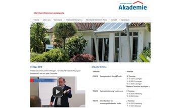 Die Remmers Akademie veranstaltet zwei Seminare zum Thema Hydrophobierung.