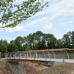 Integrale Brücke aus Holz und Beton