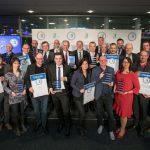 Die Gewinner des R+T Innovationspreises 2018 bei der Preisverleihung am Vorabend des ersten Messetages. Bild: Messe Stuttgart